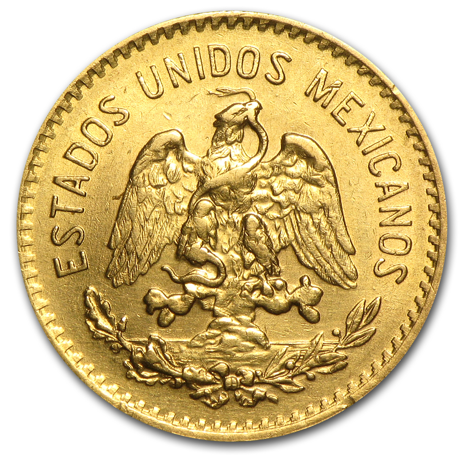 1920 Mexico Gold 5 Pesos AU